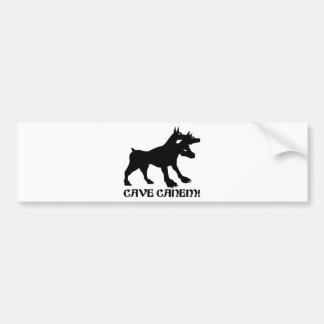 CAVE CANEM - BEWARE OF DOG Latin Bumper Sticker