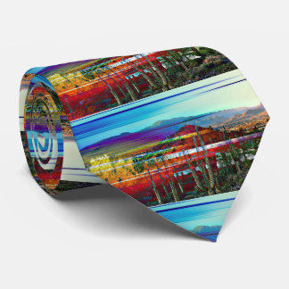 Cave Creek Abstract Landscape Men's Tie