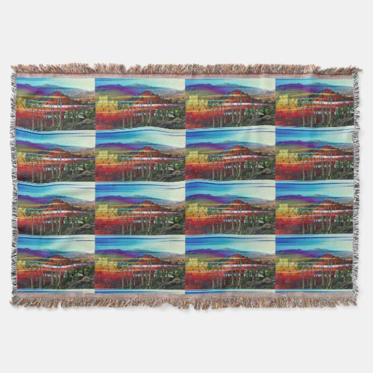 Cave Creek Abstract Throw Blanket