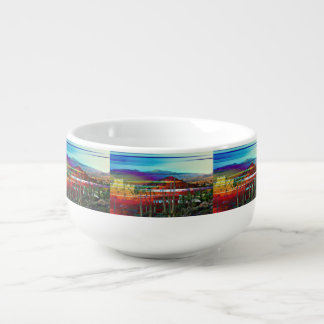 Cave Creek Landscape Abstract Soup Mug