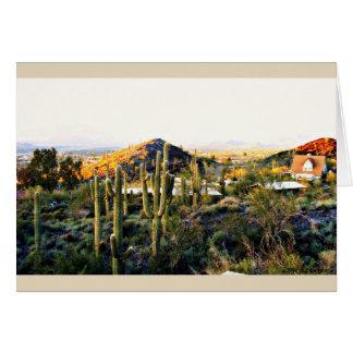 Cave Creek  Landscape Custom Note Card