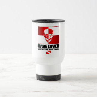 Cave Diver -Living On The Edge Travel Mug