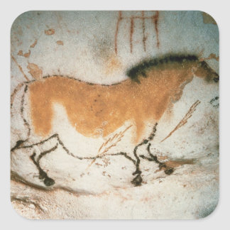 Cave drawings Lascaux French Prehistoric Drawings Square Sticker