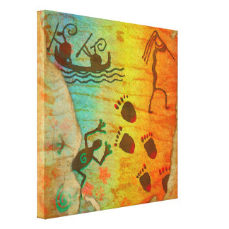 Cave Dwelling Native American DECOR Wrapped Canvas Gallery Wrap Canvas