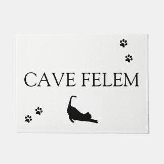 CAVE FELEM - Beware of the cat Doormat