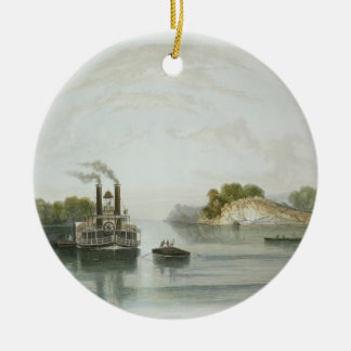 Cave-in-Rock, view on the Ohio, plate 7 from Volum Christmas Ornament