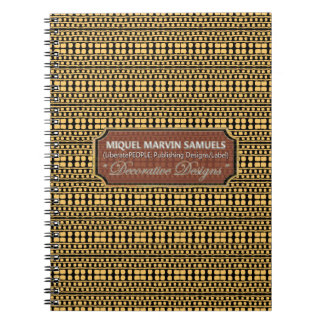 Cave man Decorative Gold Black Modern Notebook