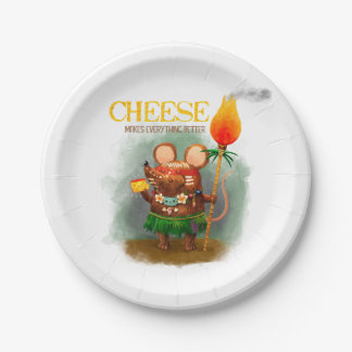 Cave Mice loves Cheese Paper Plate