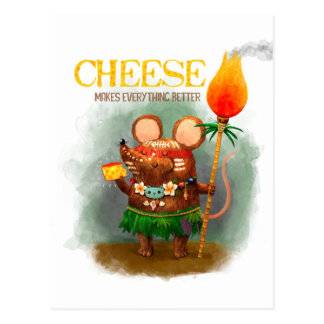 Cave Mouse and Cheese Postcard