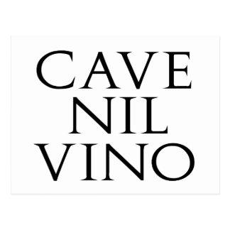 Cave Nil Vino Postcard
