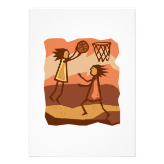 Cave People Playing Basketball Announcements