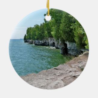 Cave Point Park Shoreline Christmas Ornament