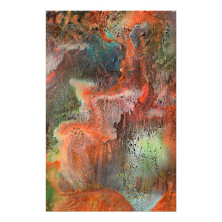Cave wall with leaching minerals customized stationery