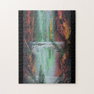 Cave waterfall puzzle