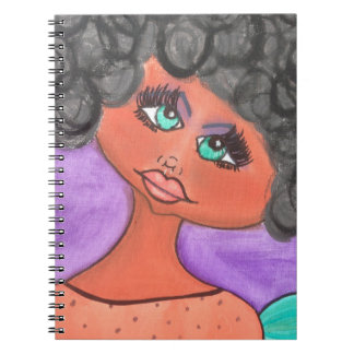 Cave Woman - Notebook- Black Notebook