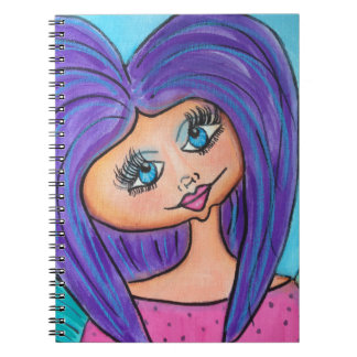 Cave Woman - Notebook - Purple