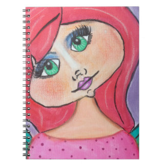 Cave Woman - Notebook - Red