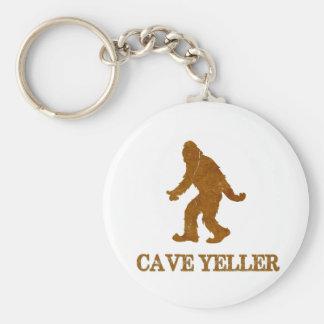 Cave Yeller (Sasquatch) Basic Round Button Key Ring