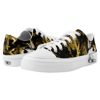 Cave Zigzag Abstract Design Low Tops