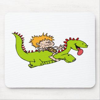 Caveboy his dragon pet mousepads