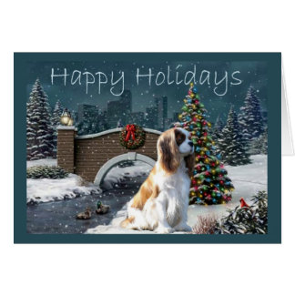Cavelier King Charles Spaniel Christmas Card Eveni