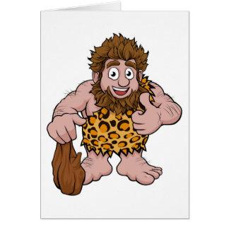 Caveman Cartoon Card