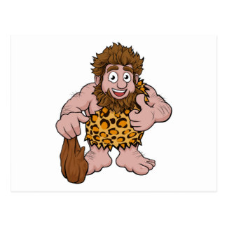 Caveman Cartoon Postcard