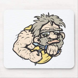 Caveman!  Customizable! Mouse Mat