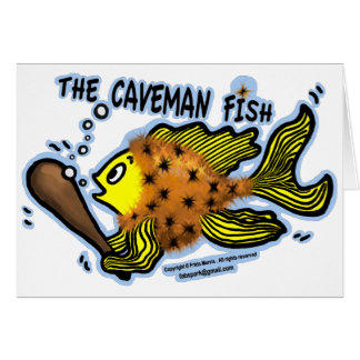 Caveman Fish Card