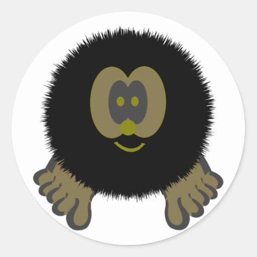 Caveman Pom Pom Pal Stickers
