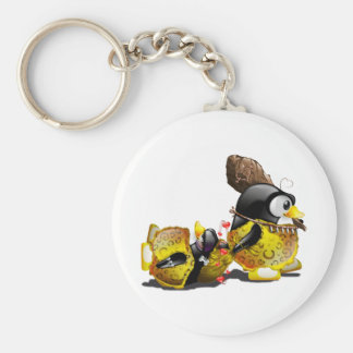 Caveman Tux in Love Key Ring