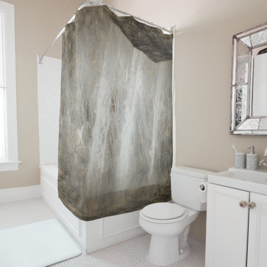Caveman Waterfall Shower curtain