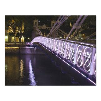 cavenagh bridge, singapore 11 cm x 14 cm invitation card
