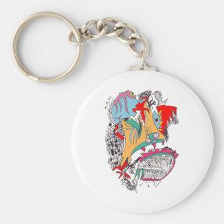 Cavernal Carnival Basic Round Button Key Ring
