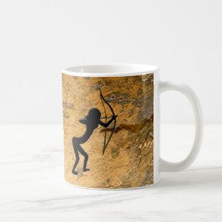 Cavewoman Archer Basic White Mug