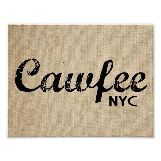 Cawfee New York funny poster