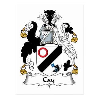 Cay Family Crest Postcard