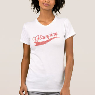 """Cayenne Faded """"Glamping"""" Logo Ladies Top Tee Shirt"""