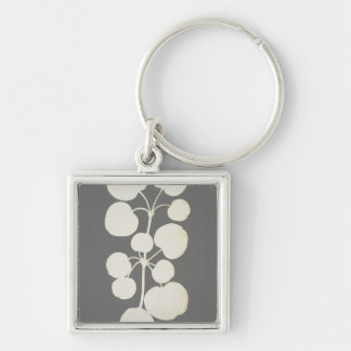 Cayenne Pepper Silver-Colored Square Key Ring