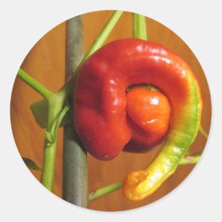 Cayenne Pepper Round Sticker
