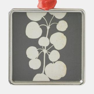 Cayenne Pepper Silver-Colored Square Decoration