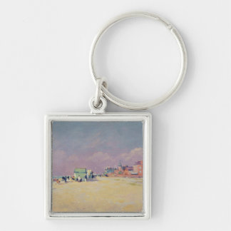 Cayeux-sur-Mer Silver-Colored Square Key Ring