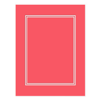 Cayman Coral-Peach-Melon-Pink- Double White Border Postcard