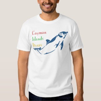 Cayman Islands Divers - Dolphin (front) T-shirts