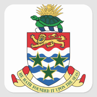 cayman islands emblem square sticker