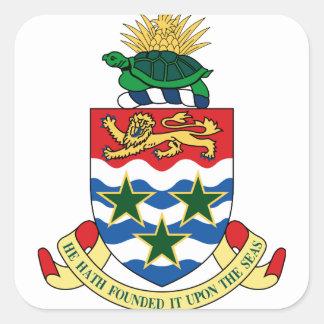 cayman islands emblem square sticker