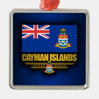 Cayman Islands Flag Silver-Colored Square Decoration
