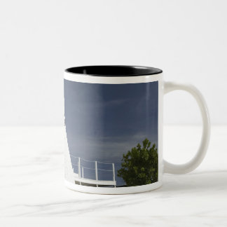CAYMAN ISLANDS, GRAND CAYMAN, Frank Sound: Old Two-Tone Coffee Mug