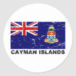 Cayman Islands Vintage Flag Round Sticker
