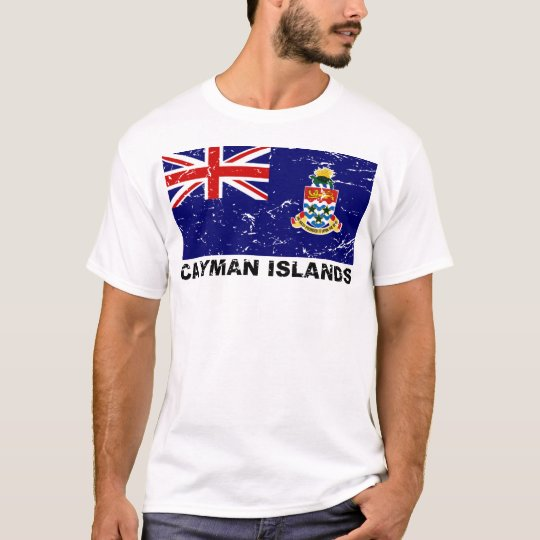 Cayman Islands Vintage Flag T-Shirt